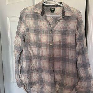Roots Plaid Flannel Shirt